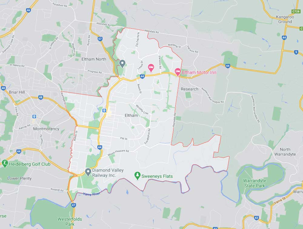 Eltham Map Area